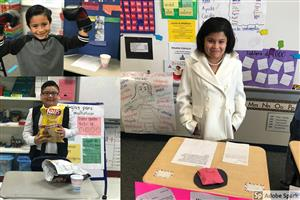Third Graders' Live Wax Museum
