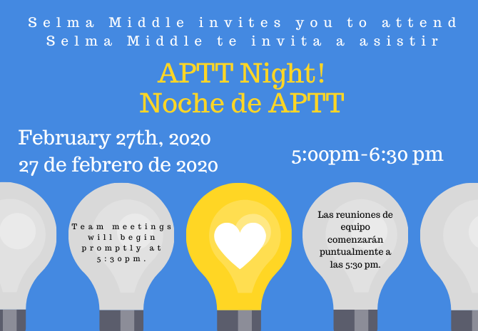 APTT Night #2- MAP data & Goal Setting!