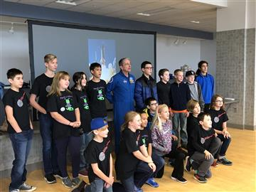 Smithfield Middle student meets astronaut Don Thomas