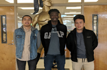 Xavier Hercules, Sha'Kerr Howard, and Bryan Lopez-Villanueva