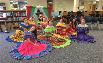 Image of SSS students in dance costumes