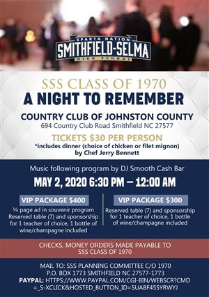 Image of A Night to Remember Flyer