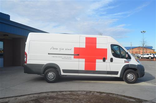 Photo of American Red Cross van