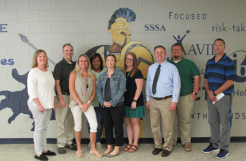 Image of SSS faculty who won grant awards with the SSS Principal, David Allen