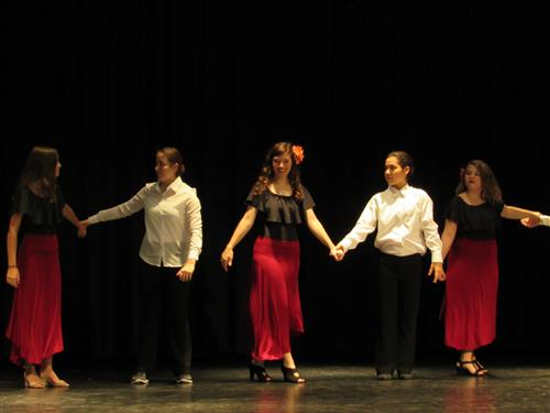 Image of SSS students performing the tango