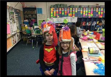 Designing Crazy Hats for Dr. Seuss Parade