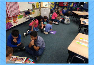 "1st Grade Teachers Collaborate with 5th Grade Teachers to Create ""Reading Buddies"""