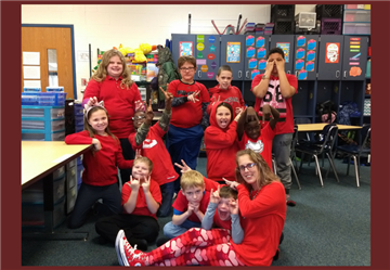 Mrs. Graham's class is showing their support for our Jump Rope for Heart Campaign