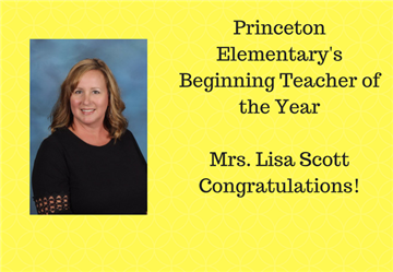 Beginning New Teacher of the Year at PES