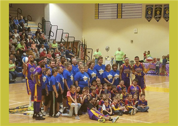 The Bulldog Stars take on the Harlem Wizards