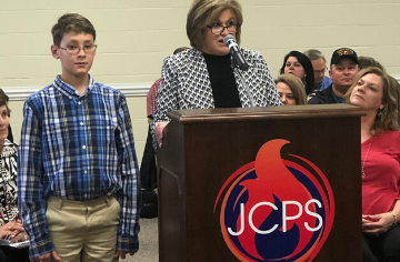 Caden McKinley Recognized at BOE Meeting