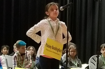 Paisley is our Spelling Bee Representive
