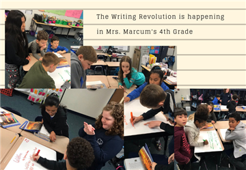 "4th Grade Lead Learners in Mrs. Marcum's Class are exploring ""The Writing Revolution"""