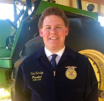 Proud of Paul Eldridge, SJHS Chapter President, for receiving a National FFA SAE Grant!