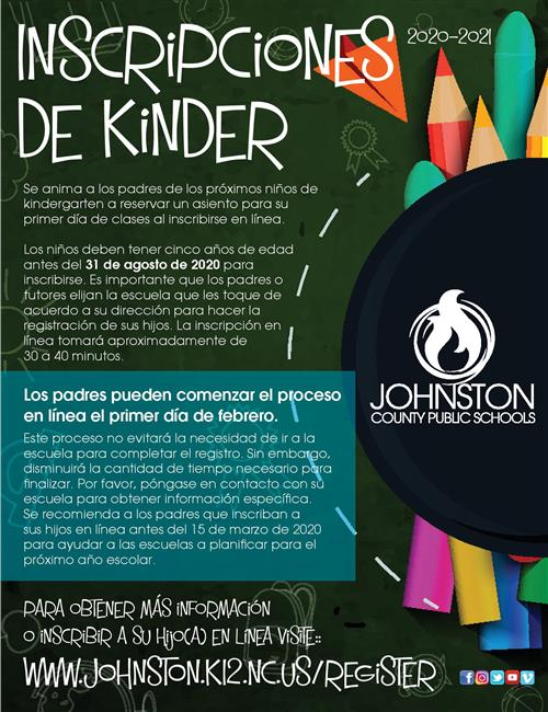 Kinder Registration Spanish