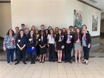 WJHS FBLA Students Place High at State Competition
