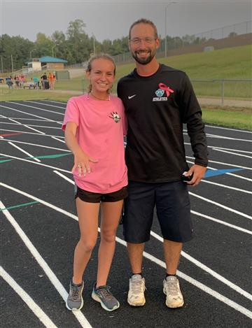 Hayley Whoolery with AD Josh Plisko