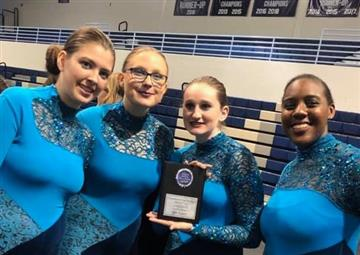 WJHS Winter Guard Takes 1st in Class at Cleveland Polar Classic