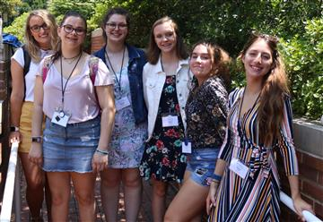West Johnston High School participants in the N.C. Student Media Institute at UNC-Chapel Hill are,