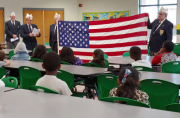 First Grade Receives Flags From Local Veterans