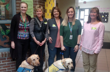 Service Dogs Visit Fourth Grade