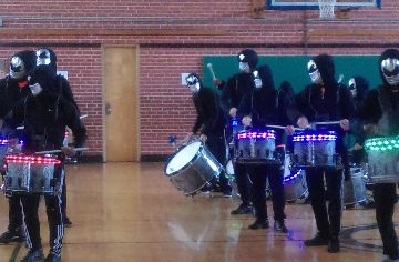 SSS band energizes EOG pep rally