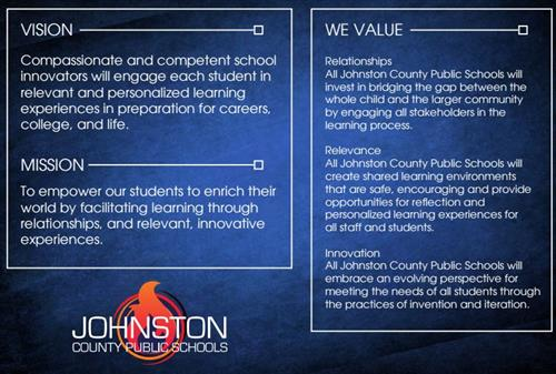 vision, mission, and values for JCPS
