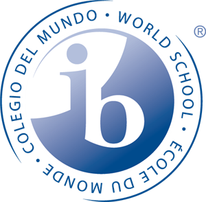 "Image of the IB World Logo consisting of a circle with ""World School"" on its periphery and ""ib"" in its center"