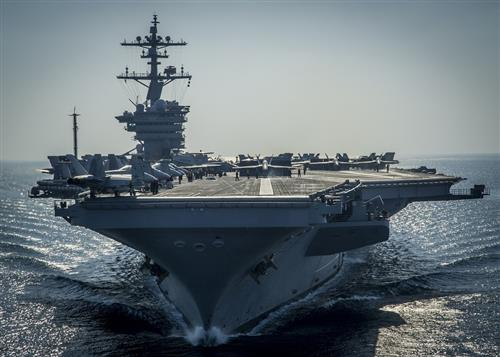 Image of an aircraft carrier