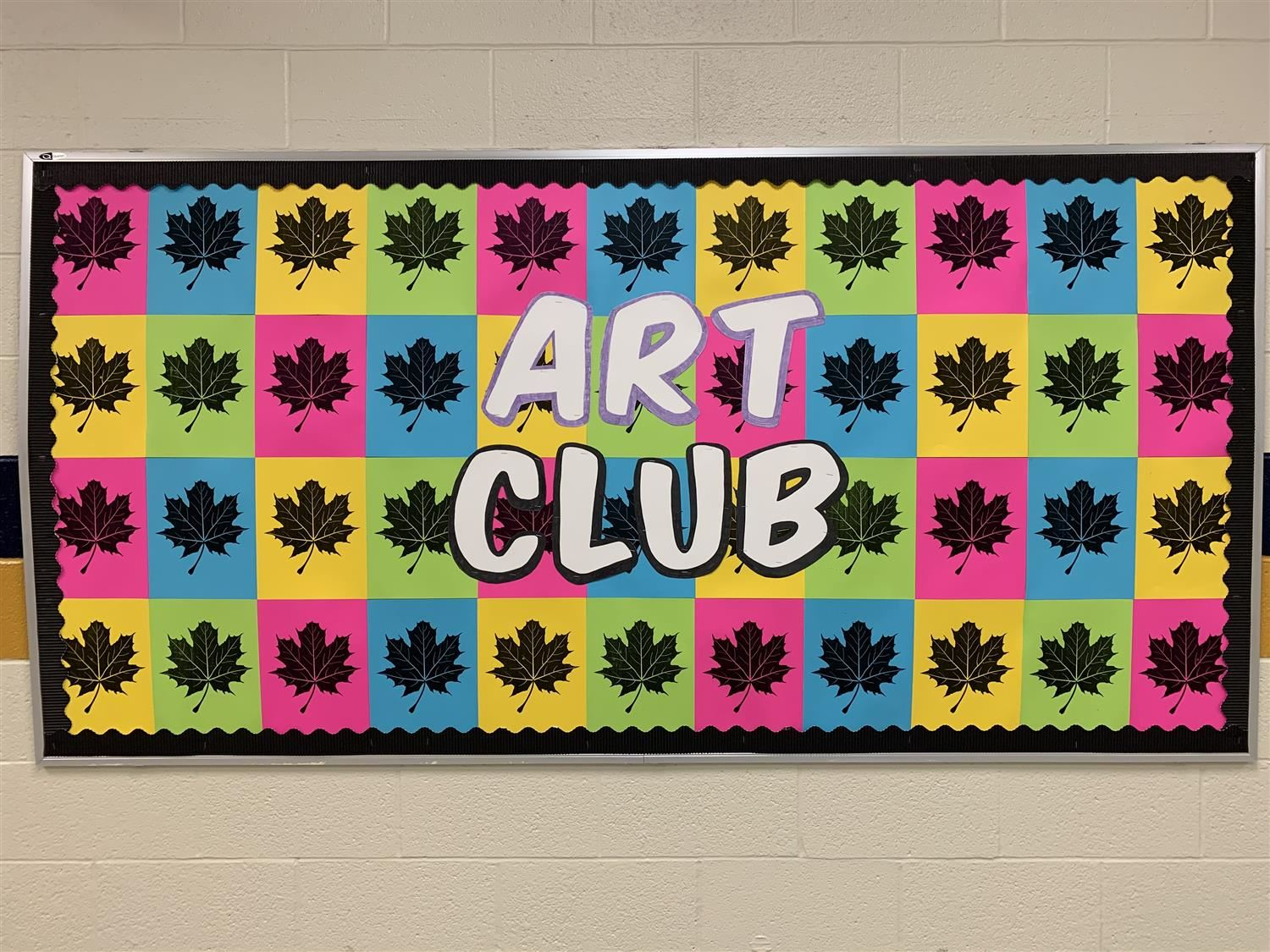 Art club fall bulletin board
