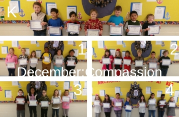 Character Kids for the Month of December