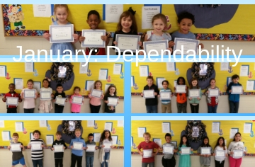 Character Kids for the Month of January: Dependability