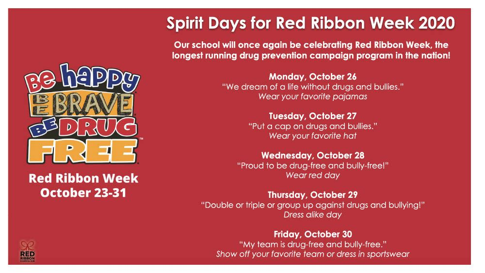 Red Ribbon Week Starts Next Week!!